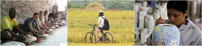 cycling to bat trang pottery village one day