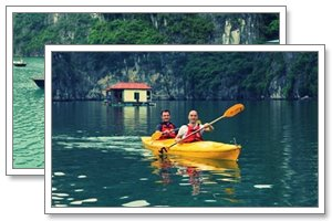 halong cruise kayaking