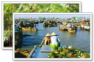 floating market mekong tonkin-travel